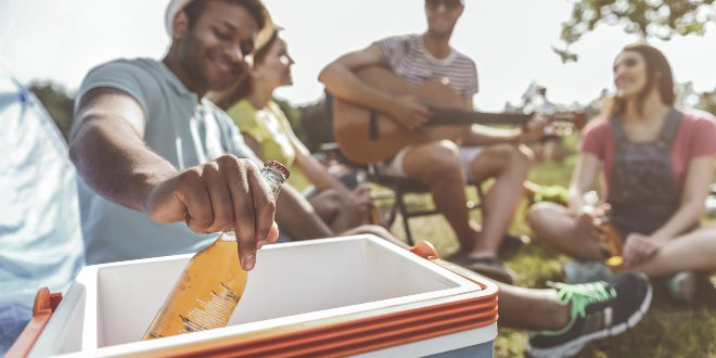 Camping mit Isolierboxen