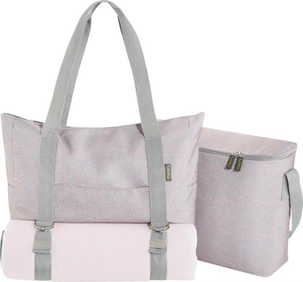 Meori Multiset 3in1 Tasche, Picknickdecke & Kühltasche grau