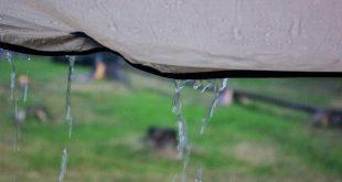 Zelt bei Regen - Vorzelte abdichten