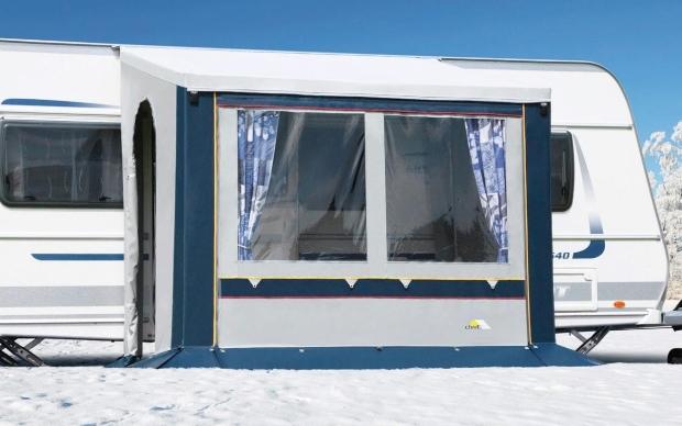 DWT Cortina II Ganzjahresvorzelt Blau 200 x 150 cm - Ganzjahrescamping