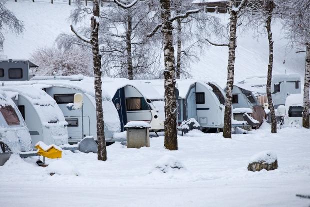 Winter-Campingplatz - Ganzjahrescamping