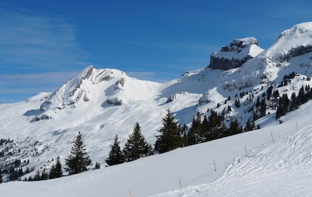Hoch-Ybrig Bergregion in der Schweiz