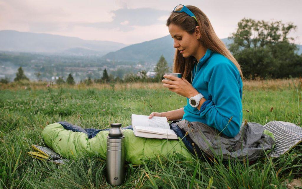 Esbit Majoris Edelstahl Isolierflasche 750 ml - auch gut für's Winterwandern geeignet