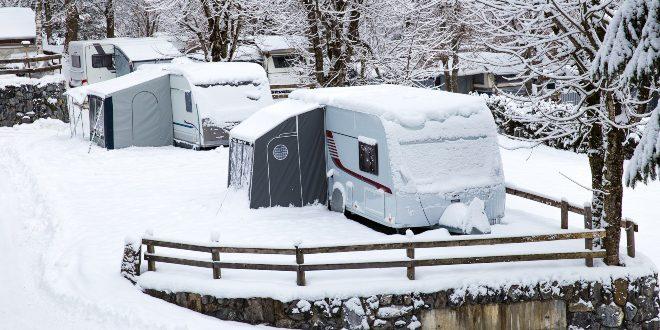Wohnwagen im Winter - Wohnwagen frostsicher machen