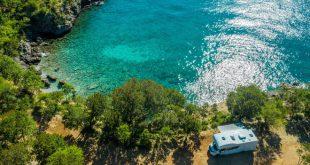 Camper Van an der Küste - Camping in Istrien