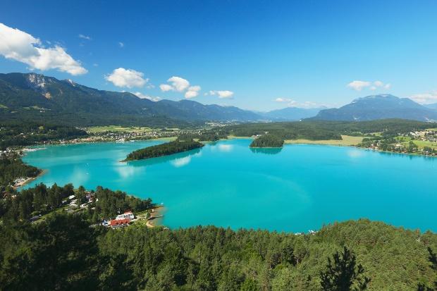 Der Faaker See in Kärnten