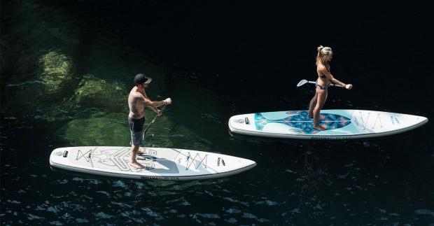 Indiana Touring 11 6 aufblasbares Stand Up Paddling-Board - Die schönsten Campingplätze in Österreich